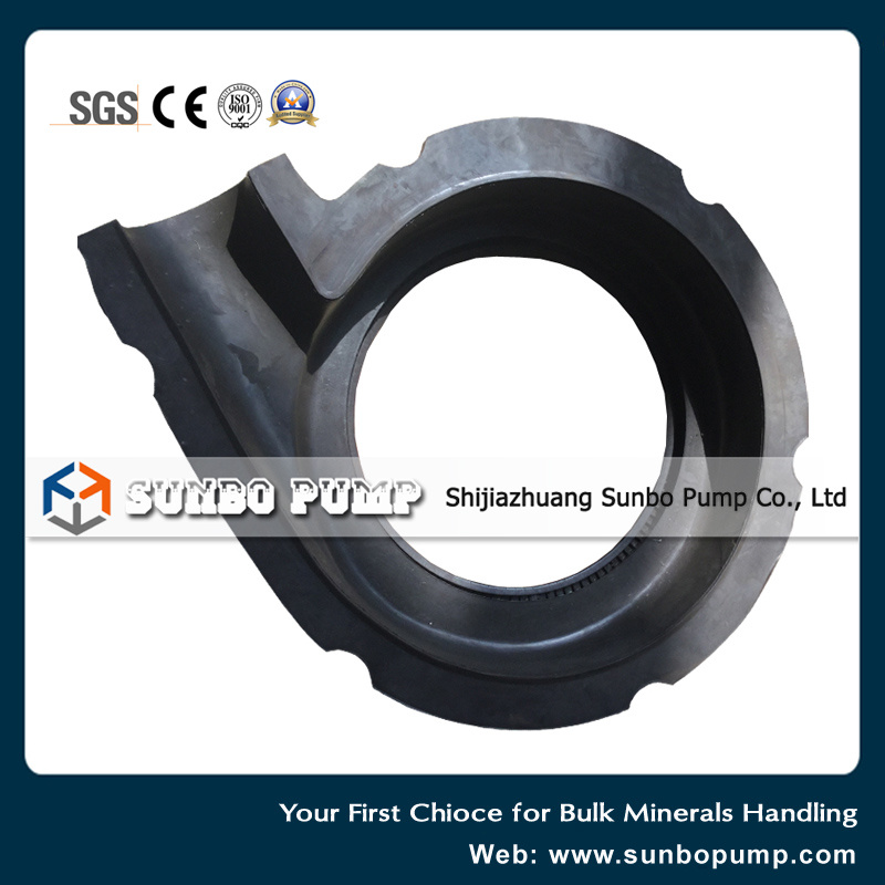 Rubber Centrifugal Sand Mud Slurry Pump Part Cover Plate Liner