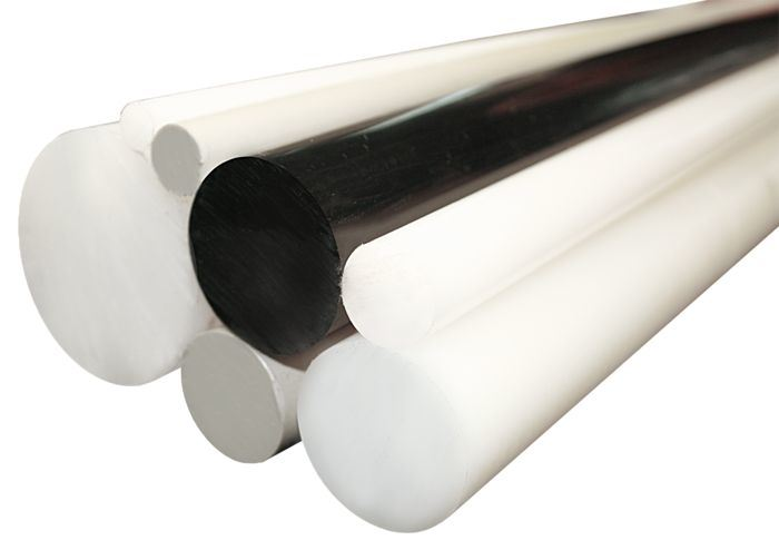 100% Virgin PTFE Rods with White, Black Color
