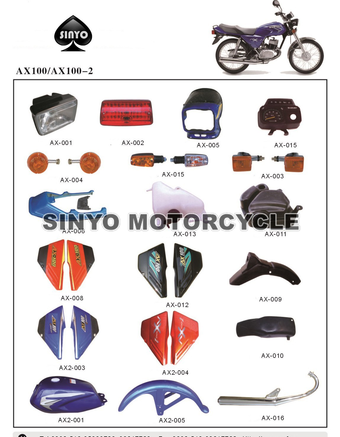 Ax100 Hot Sell Popilar Motorcycle Accessories