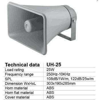 PA Horn Speaker Ahuja Design Outdoor Speaker (UH-25)