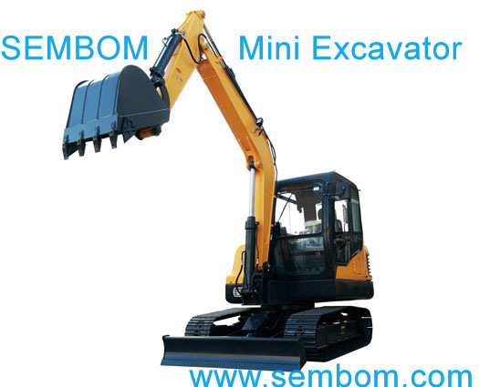 Multifunction Mini Excavator 6ton (SE60) for Farming, Civic Building, Gardening