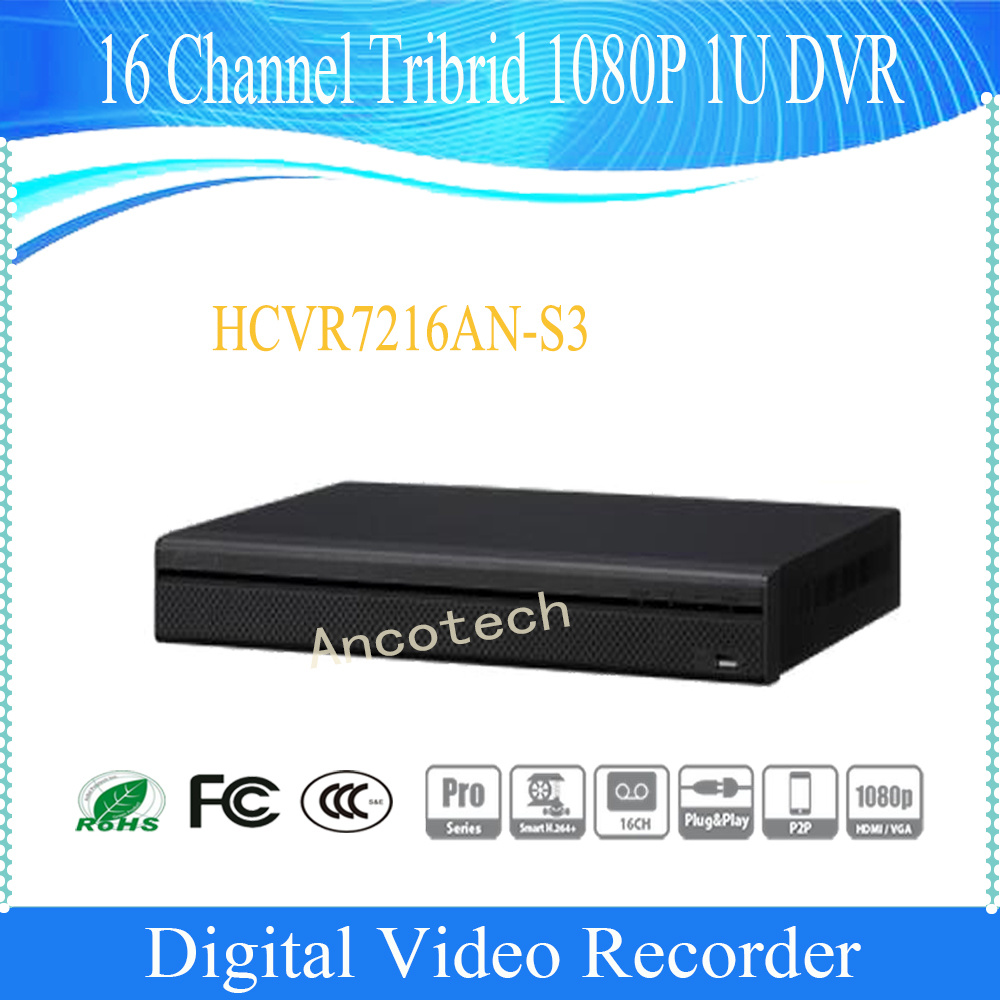 Dahua 16 Channel Tribrid 1080P 1u Digital Video Recorder (HCVR7216AN-S3)