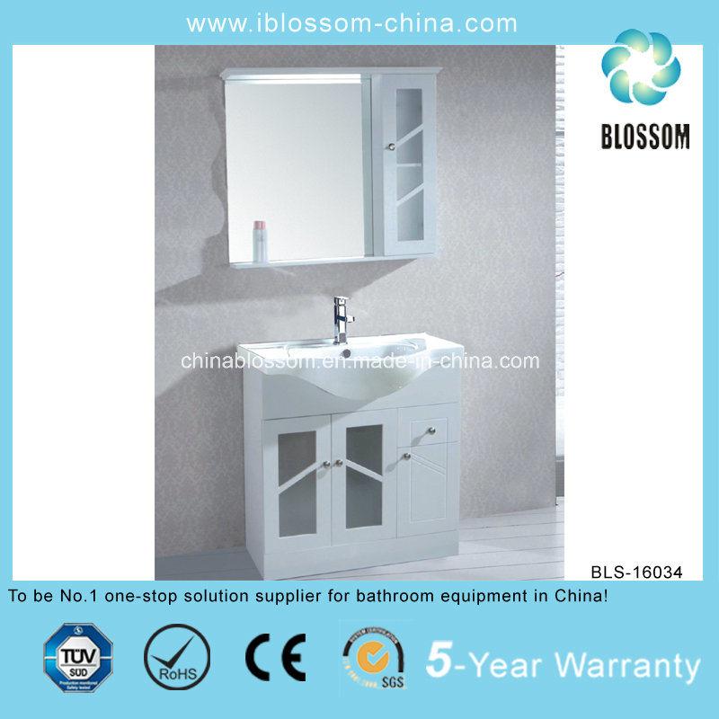 Two Doors Metal Legs Floor Mounted Bathroom Cabinet (BLS-16034)
