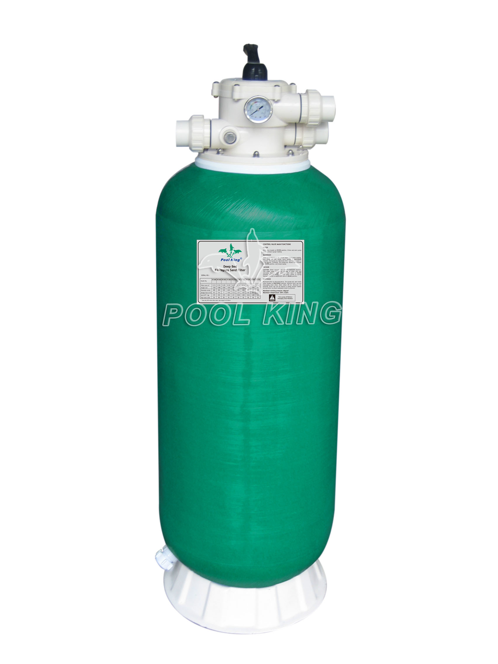 China fiberglass topmount deep bed sand filter for - Filter fur pool ...