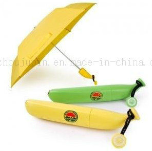 OEM Logo Creative Advertising Promotional Portable Folding Banana Umbrella
