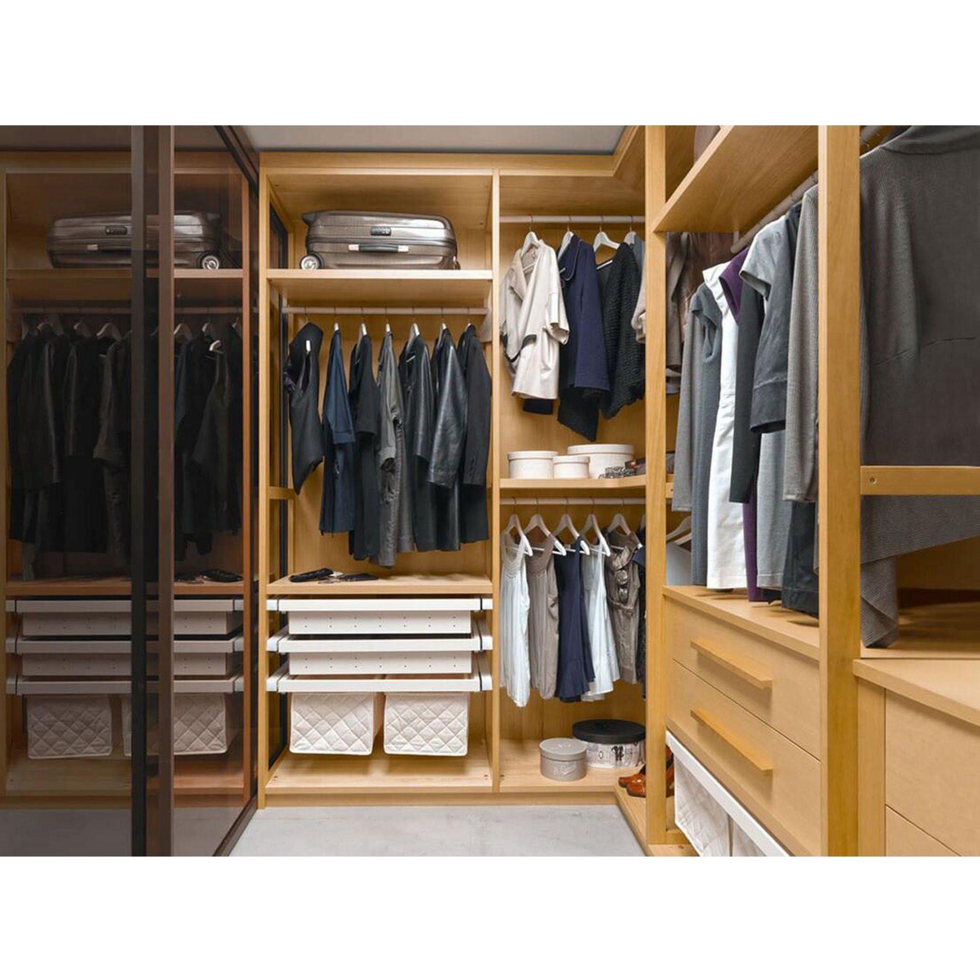 Modern Stylish Melamine Walk in Wardrobe for Dressing Room