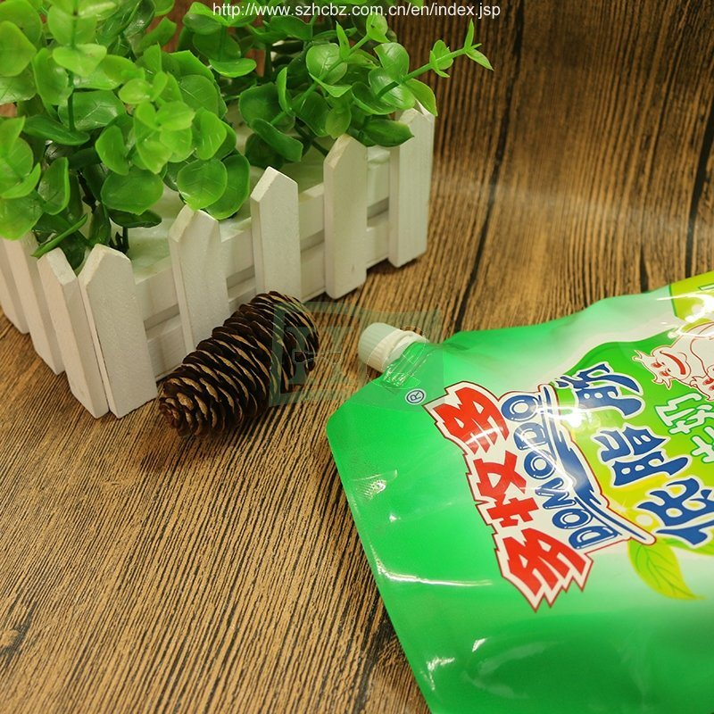 200ml 500ml 1L Liquid Stand up Pouch with Spout