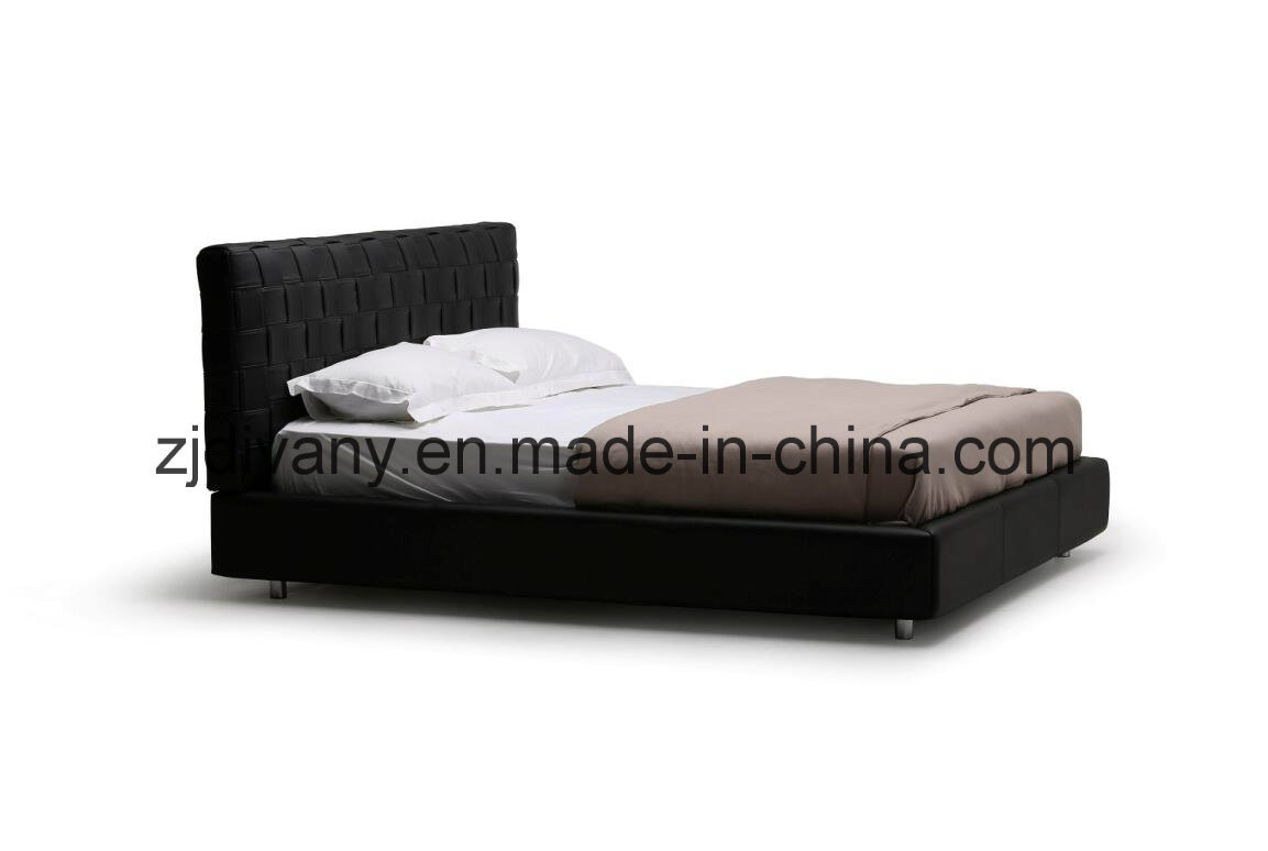 Italian Style Home Bedroom Double Bed Furniture (A-B41)