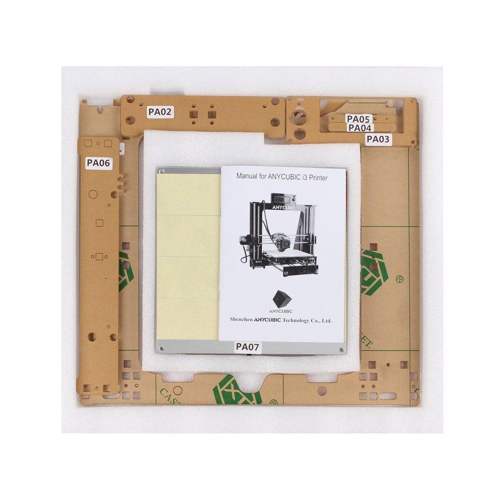 3D Printer Kit 210X 210 X 205mm Build Dimensions 50 Micron 1.75mm PLA Filament