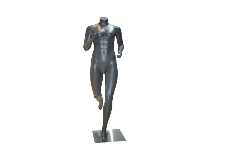 Hi-End Fiberglass Sportswear Clothes Display Running Mannequins Custom