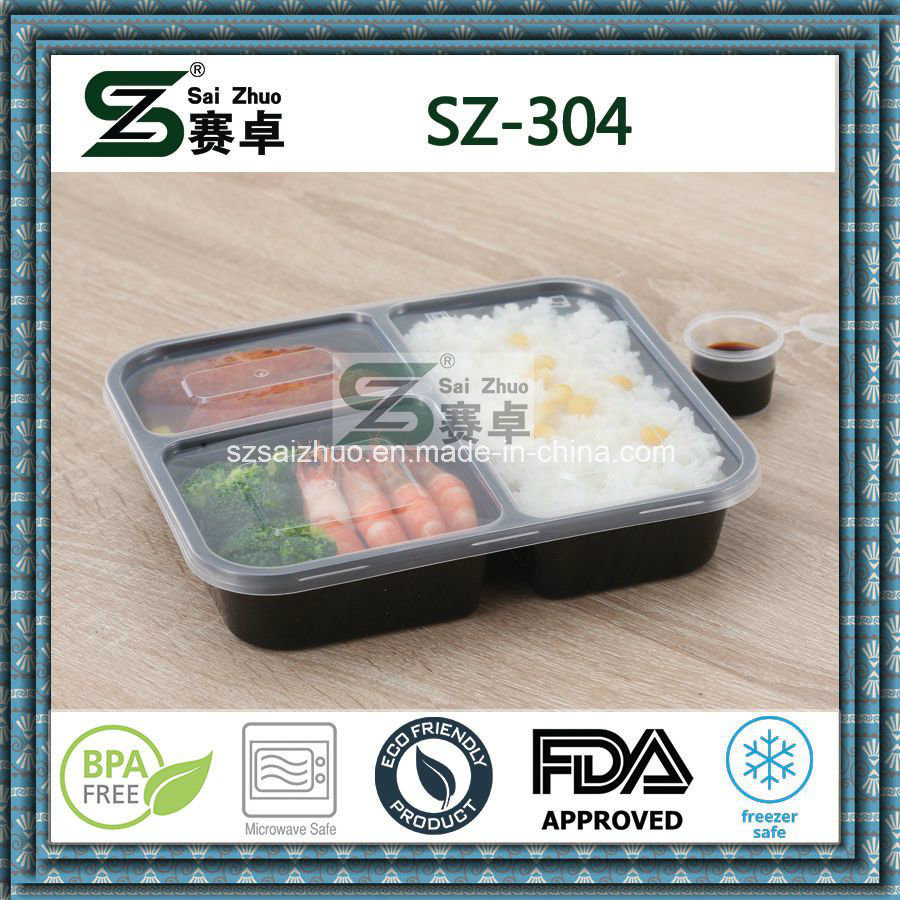 3compartment PP Disposable Food Storage Container (SZ-304)