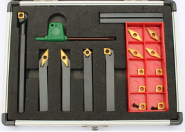 Cutoutil New 7PC Indexable Lathe Turning Tool Set