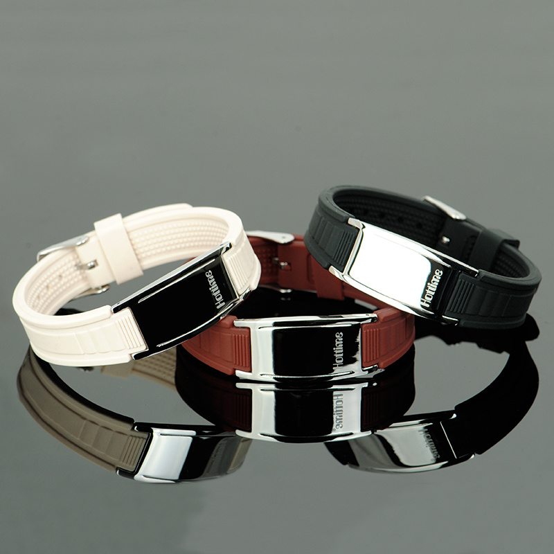 Customized Logo Rubber Bracelet with Health Function Germanium