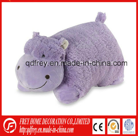 Factory Wholesale Purple Stuffed Hippo Animal Pillow