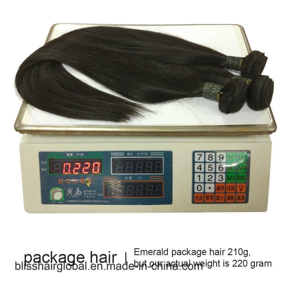 "Bliss Emerald Sg Straight 8""-30"" 7A 100% Virgin Remy Brazilian Human Hair Top Grade Unprocessed Dyeable Cheap Bundle Hair"