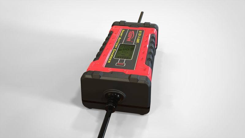 6V/12V 4A Smart Battery Charger with LCD Display