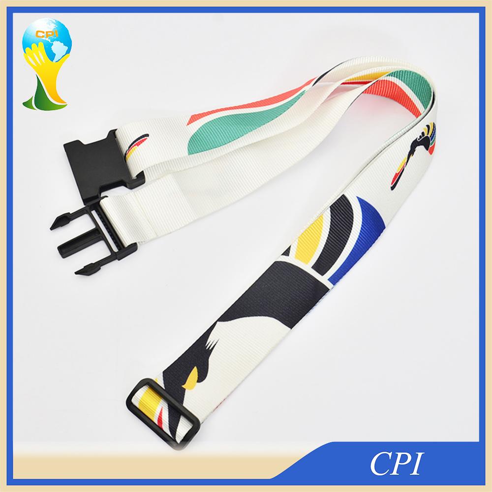 Nylon Beautiful Luggage Belt with Plastic Buckle