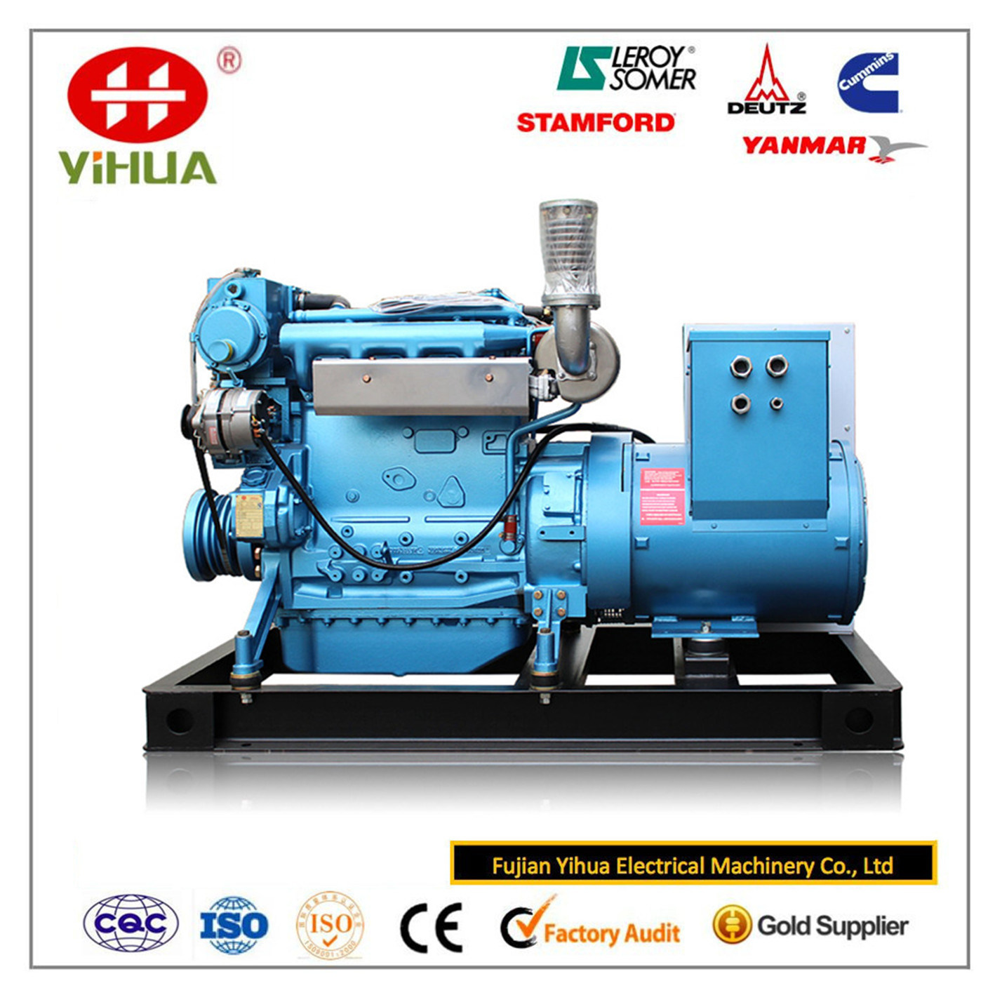 Weichai Engine with Marathon 30-1000kVA/24-800kw Marine Diesel Power Generator