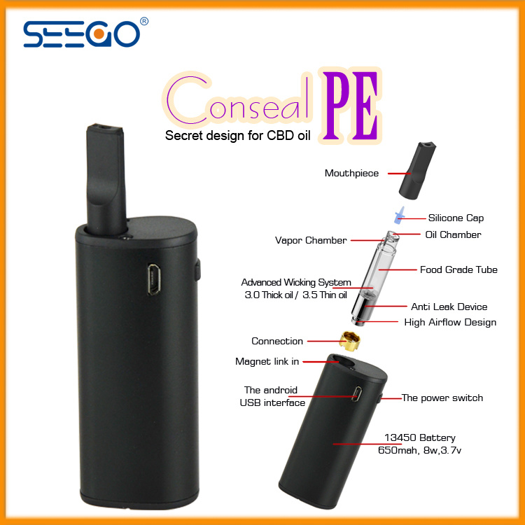 Seego 2017 Cbd Oil Vape Kit Electronic Cigarette with Multiple Capacity Cartridges