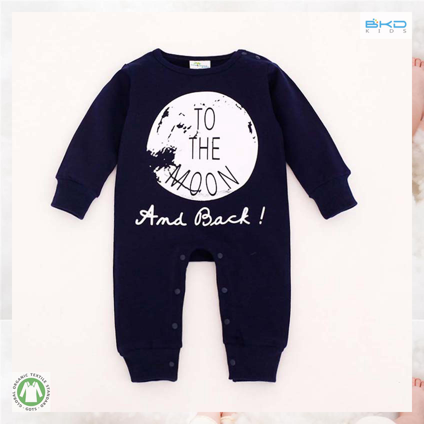 Simple Style Baby Apparel Round Neck Newborn Playsuit