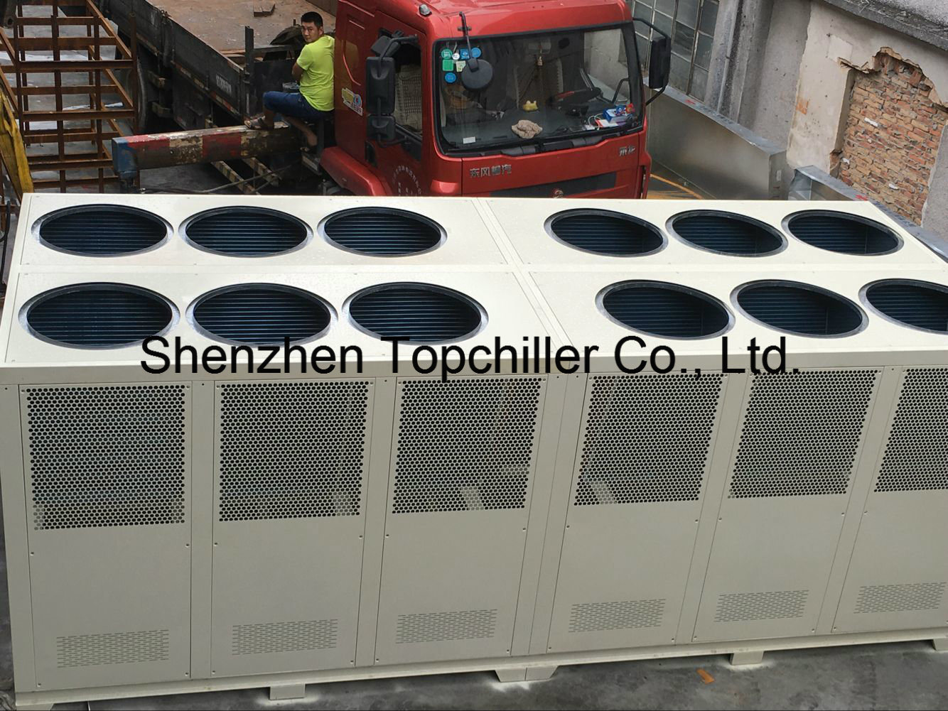 50ton Air Cooled Screw Chiller with Semi Hermetic Hanbell Bitzer Compressor