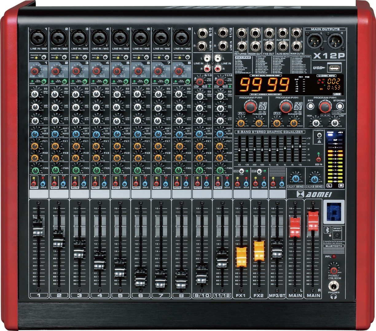 Special New Design Powered Mixer X8p Series Professional Amplifier