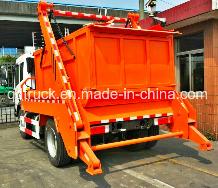 6000L swinging arm garbage truck roll sanitation vehicle