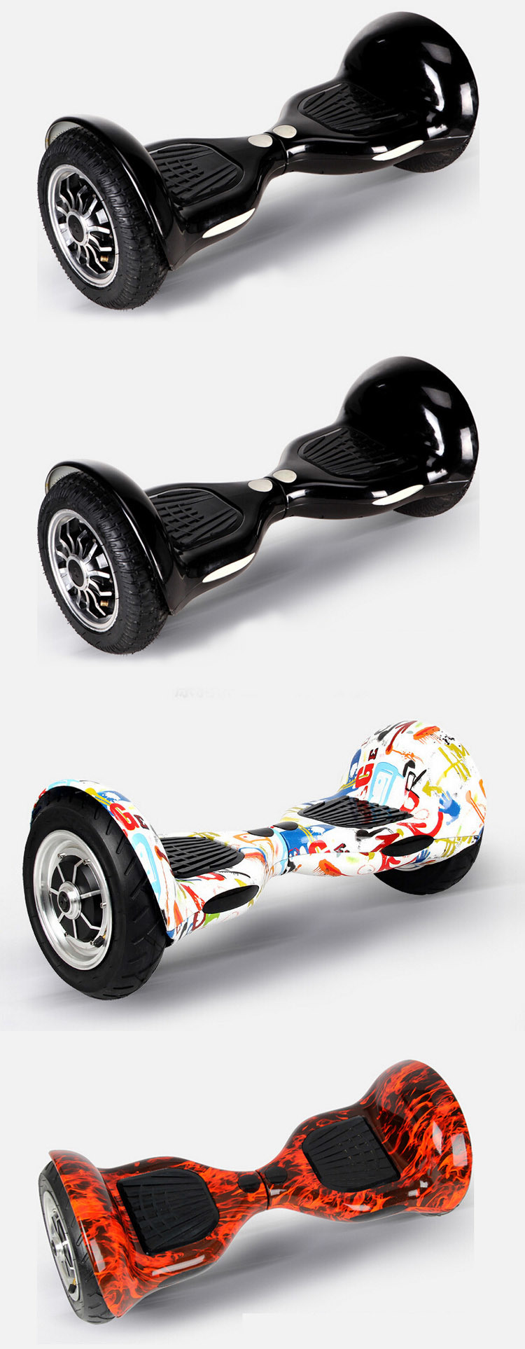 Smartek OEM Electric Self Balance Hiphop Graffiti Patinete Electrico E-Scooter Gyroscooter Scooter with Bluetooth S-002-Cn