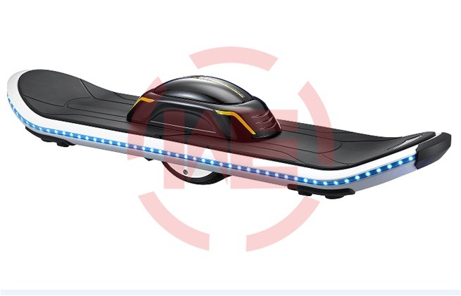 Electric Skateboard with Single Wheel