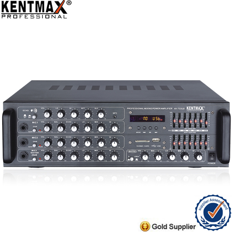 180W Professional Power Audio Amplifier with USB (AV-733US)