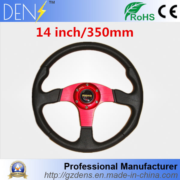 Racer Red 350mm Sport Steering Wheel with Horn Button