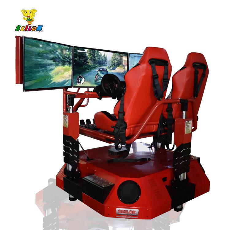 360 Degree Rotate 3D Car Arcade Racing Car Game Machine