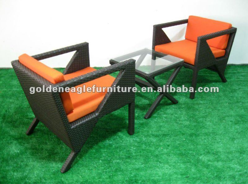 Simple Rattan 3PCS Chair and Table (TY0013)