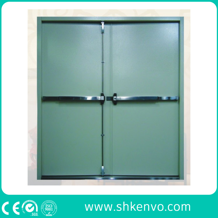 China Hollow Metal Fire Rated Double Doors With Vision Panel