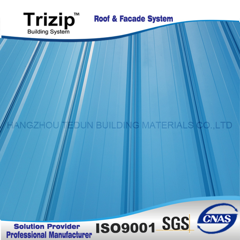 Prepainted Steel Standing Seam Roofing Triroof65-470