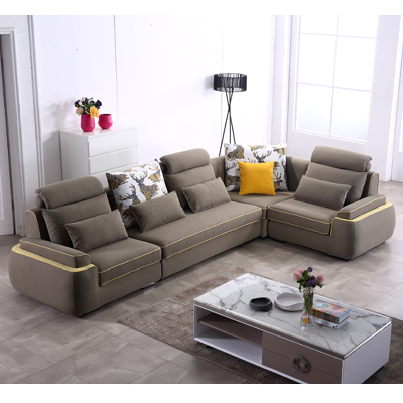 Modern Design Living Room Lint Fabric Sofa for Hotel Bedroom Furniture -Fb1148