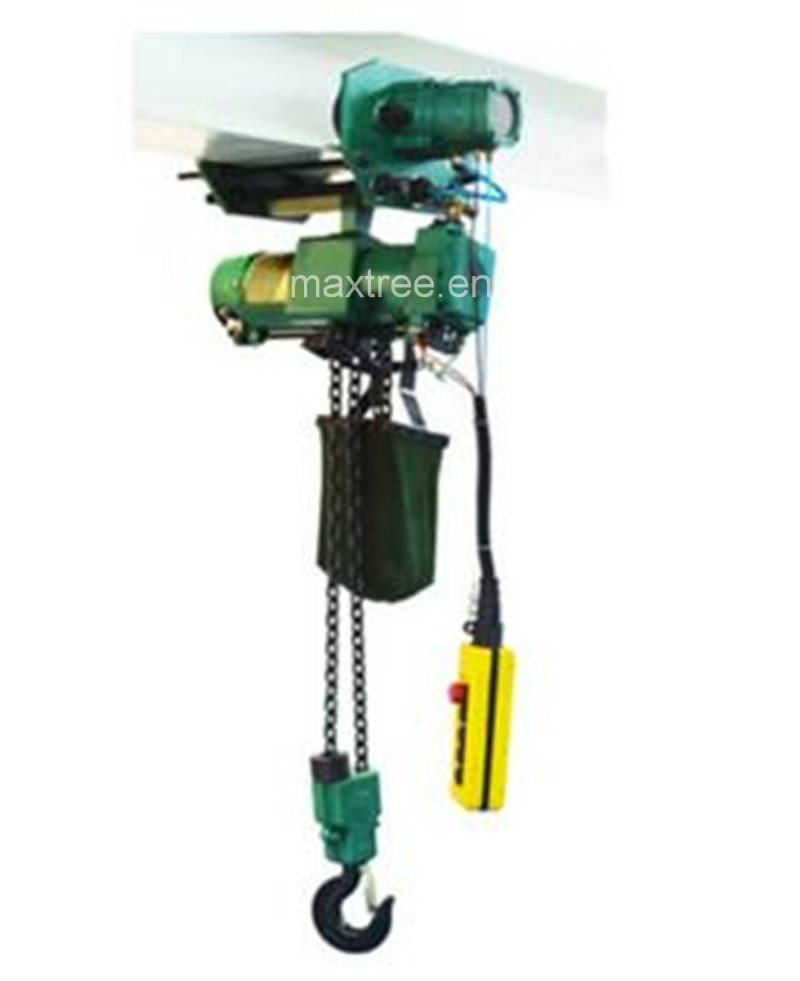 Air Chain Hoist 1t, 2twith Emergency Stop Button and Compressed Air Preparation Unit