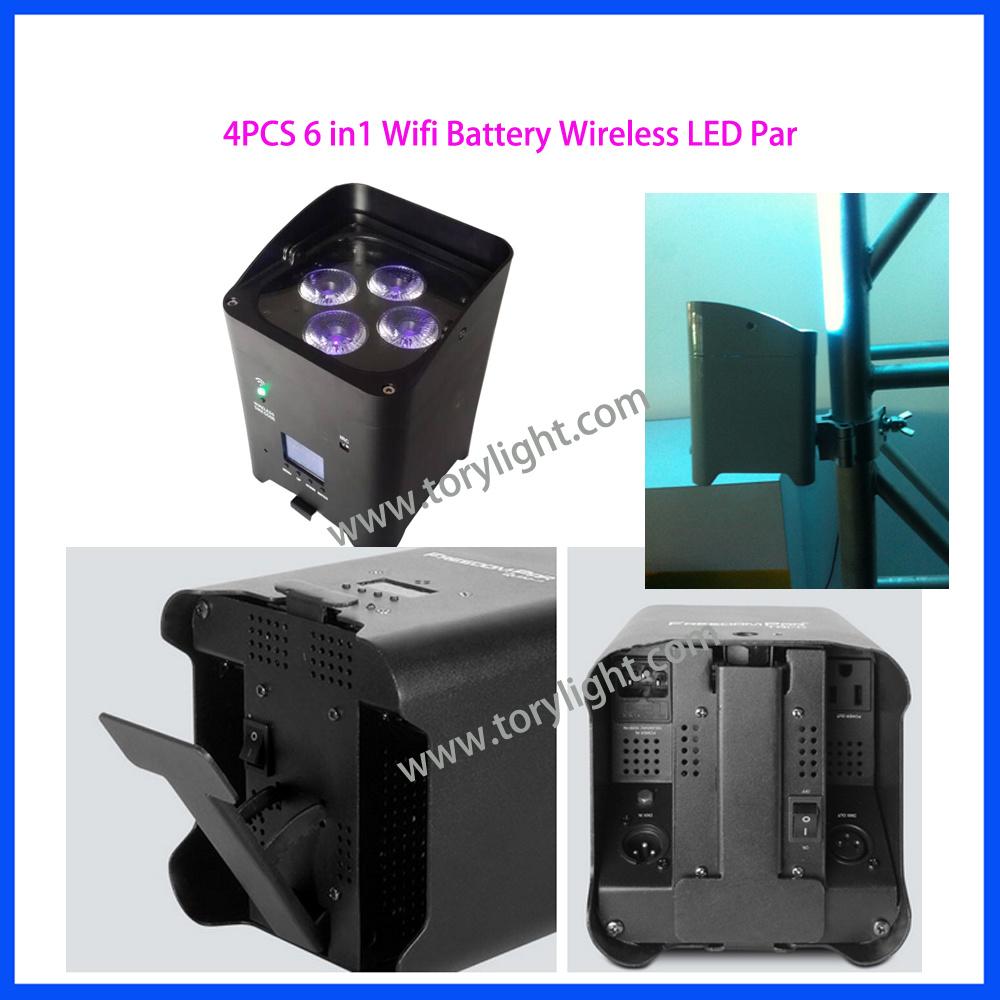 Stage Lighting Smart LED Battery PAR 4PCS*18W WiFi Light