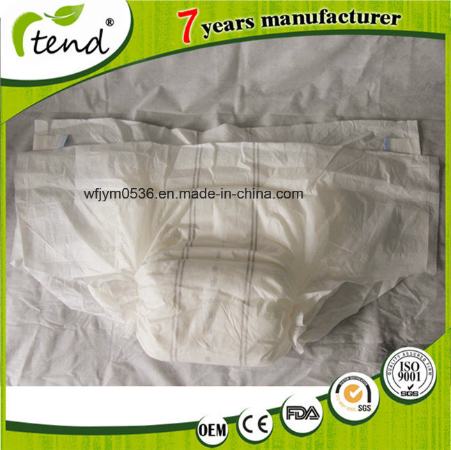 Cheap Disposable Comfort Adult Diaper with Design for Hospital
