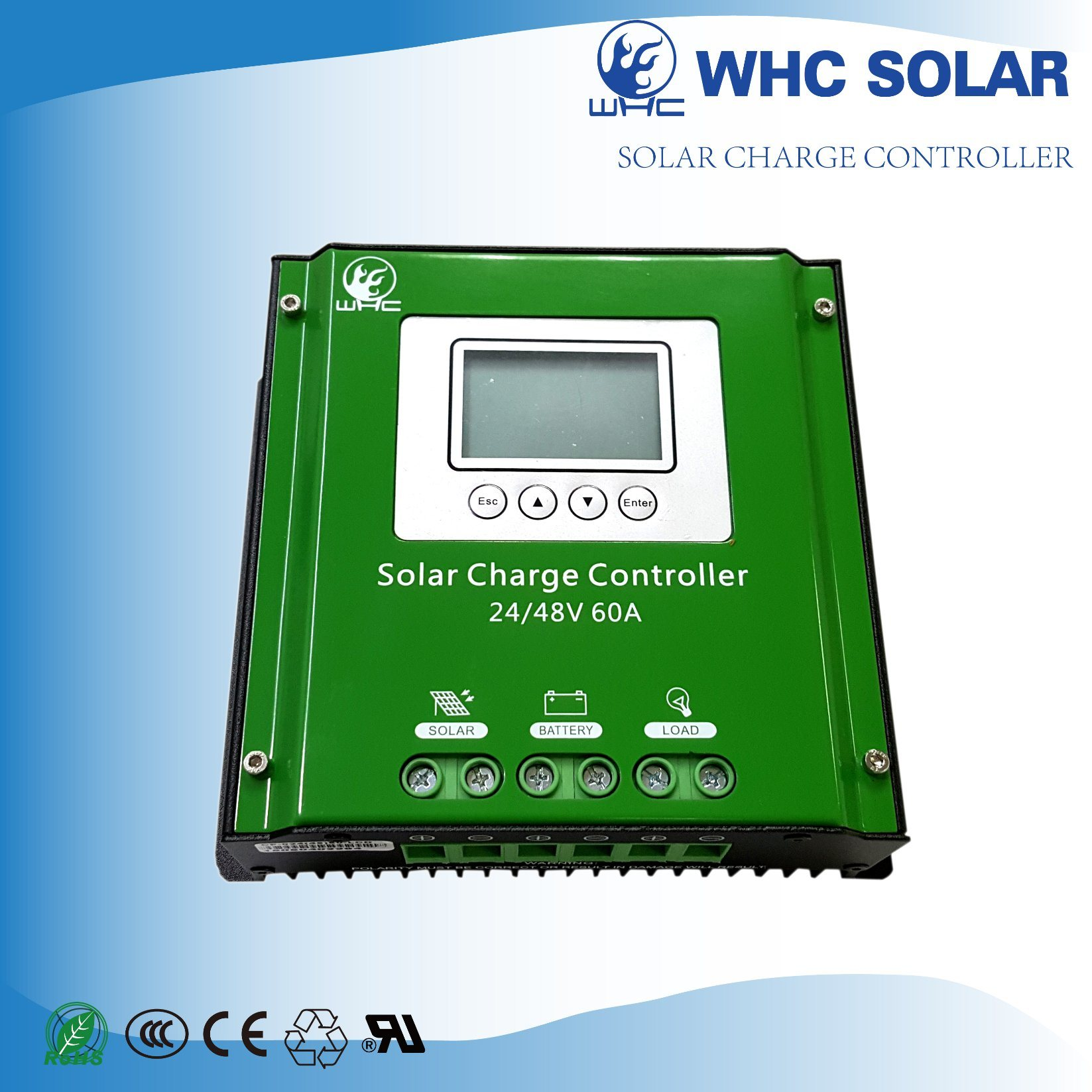 High Efficiency PWM LCD Solar Controller
