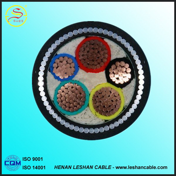 Underground Low Voltage Copper Conductor XLPE / PVC Insulated Power Cable with Armoured