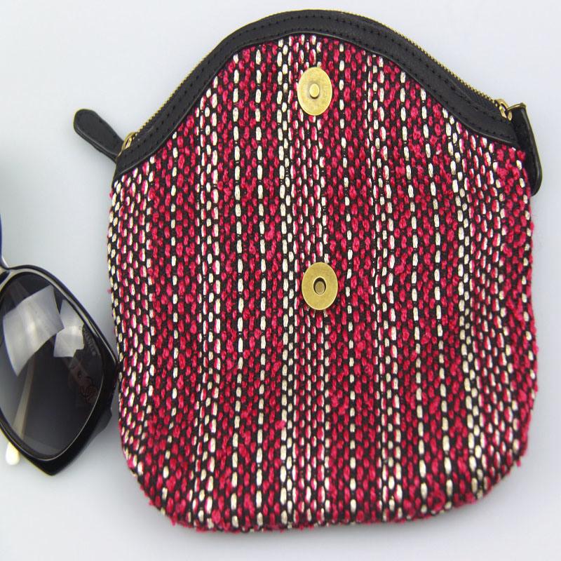 Women Boho Canvas Wallet Lady Cotton Purse Fashion Accessory