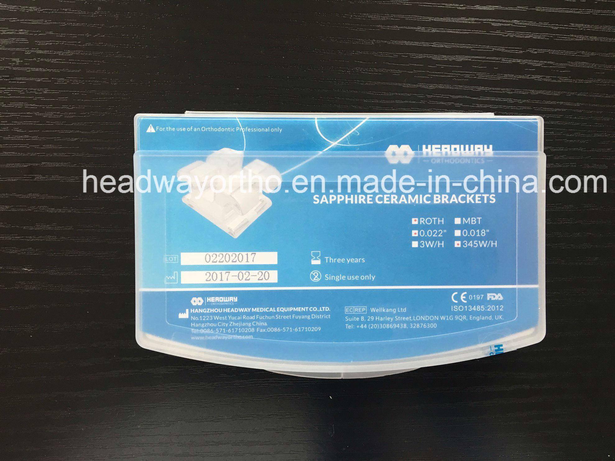 Hot Sale Orthodontic Sapphire Ceramic Bracket with Ce & FDA