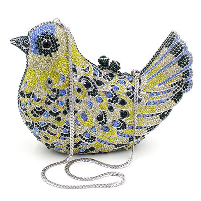 2017 Hotselling Bird Shape Crystal Stone Evening Bags Women Handbag Eb707