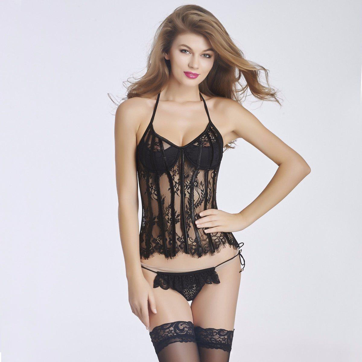 Women′s Sexy Waist Cincher Corset Lingerie with Garter Belt