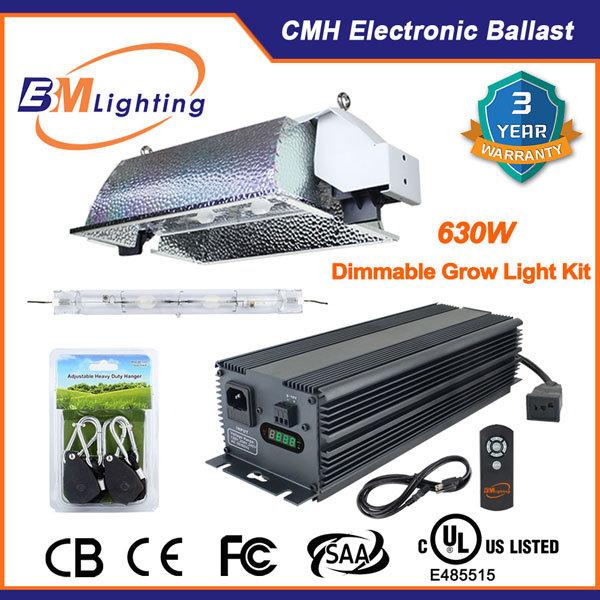 Grow Bulbs and High Quality Indoor 630W Double Ended Grow Light Kit