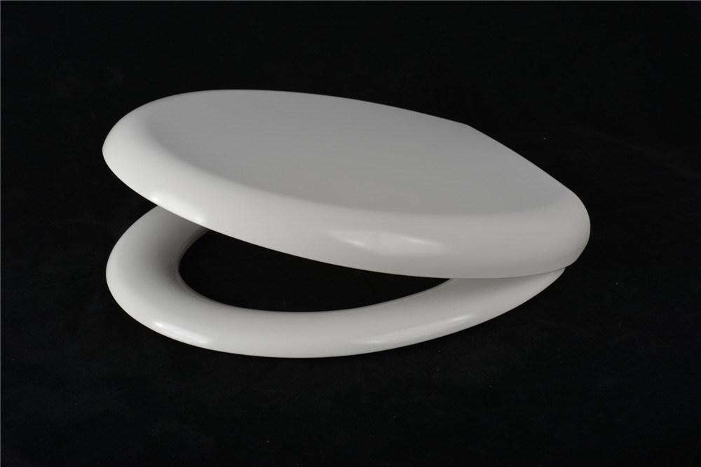 Quick Release Slow Close Sanitary White Round Urea Toilet Cover