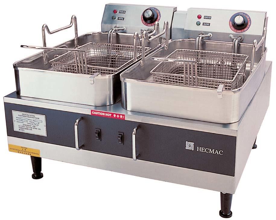 Desktop Electric Fryers ---Double Tanks (FEHCD214)