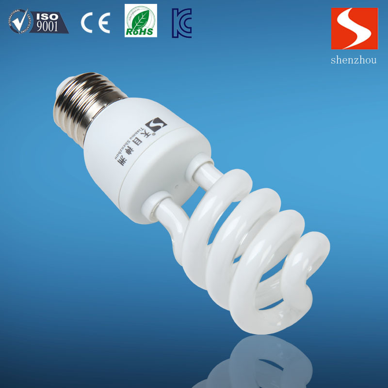 Half Spiral T3 13W Energy Saving Lamp, CFL Bulbs, E26/E12