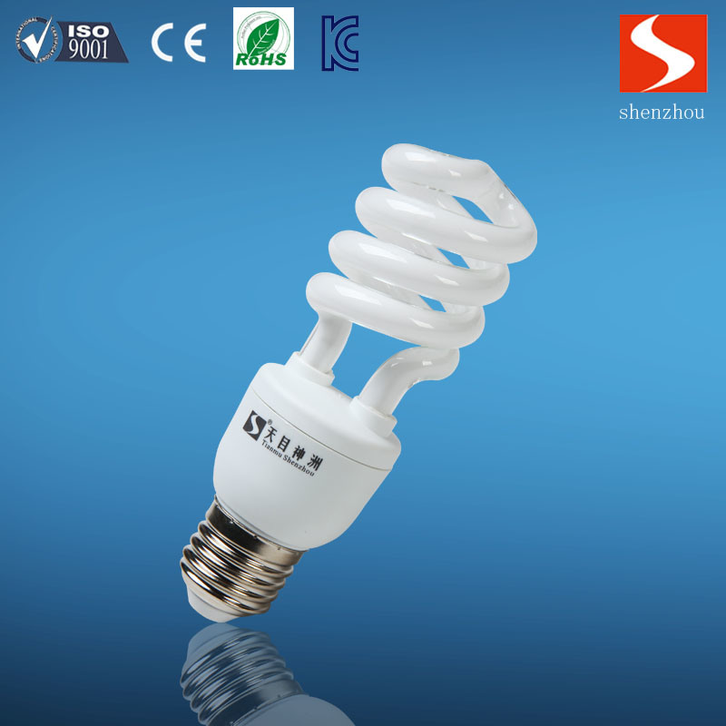 Half Spiral T3 13W Energy Saving Lamp, CFL Bulbs, E26/E12